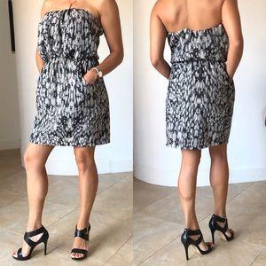 City Triangles Abstract Snake Print Mini Dress